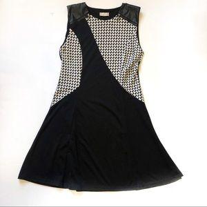 Altard State Black/White Houndstooth Sheath Dress
